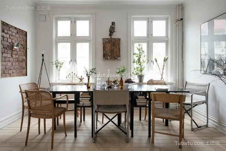 质朴北欧家装餐厅