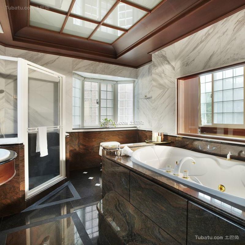 古典欧式别墅室内家居卫生间效果图片