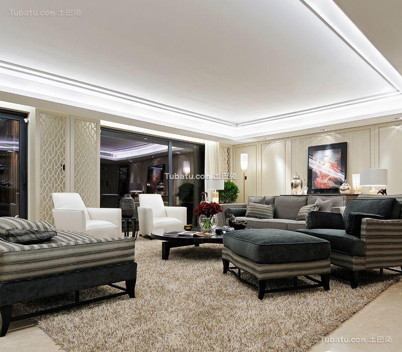 现代奢华客厅设计装修效果图片