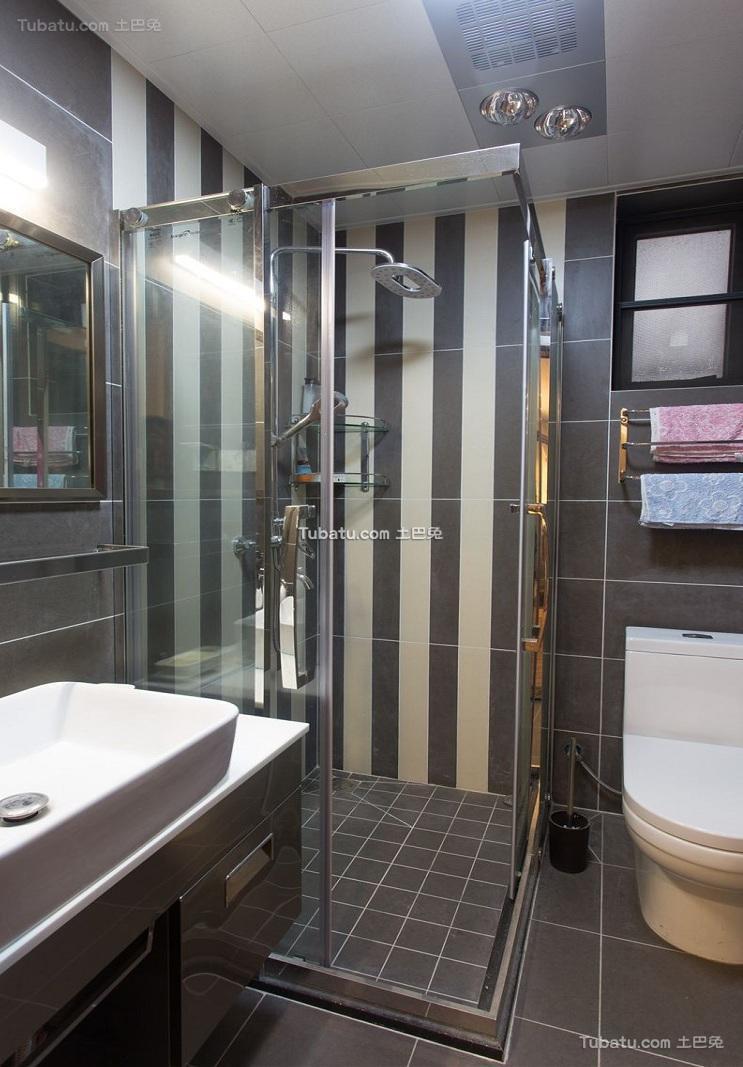 简约室内卫生间装修设计效果图片