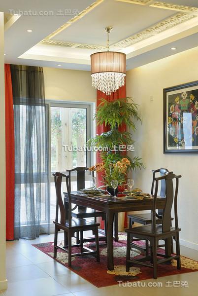 新中式家装餐厅装饰