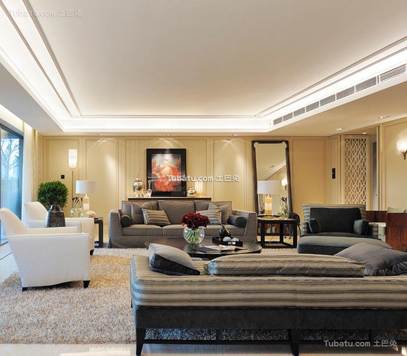 现代奢华四居室设计装修效果图片