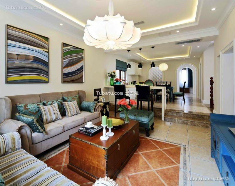 新古典风格设计两居装修效果图片