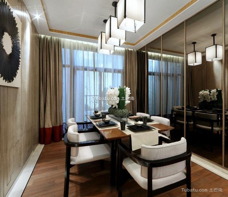 中式风格现代室内餐厅设计装修效果图