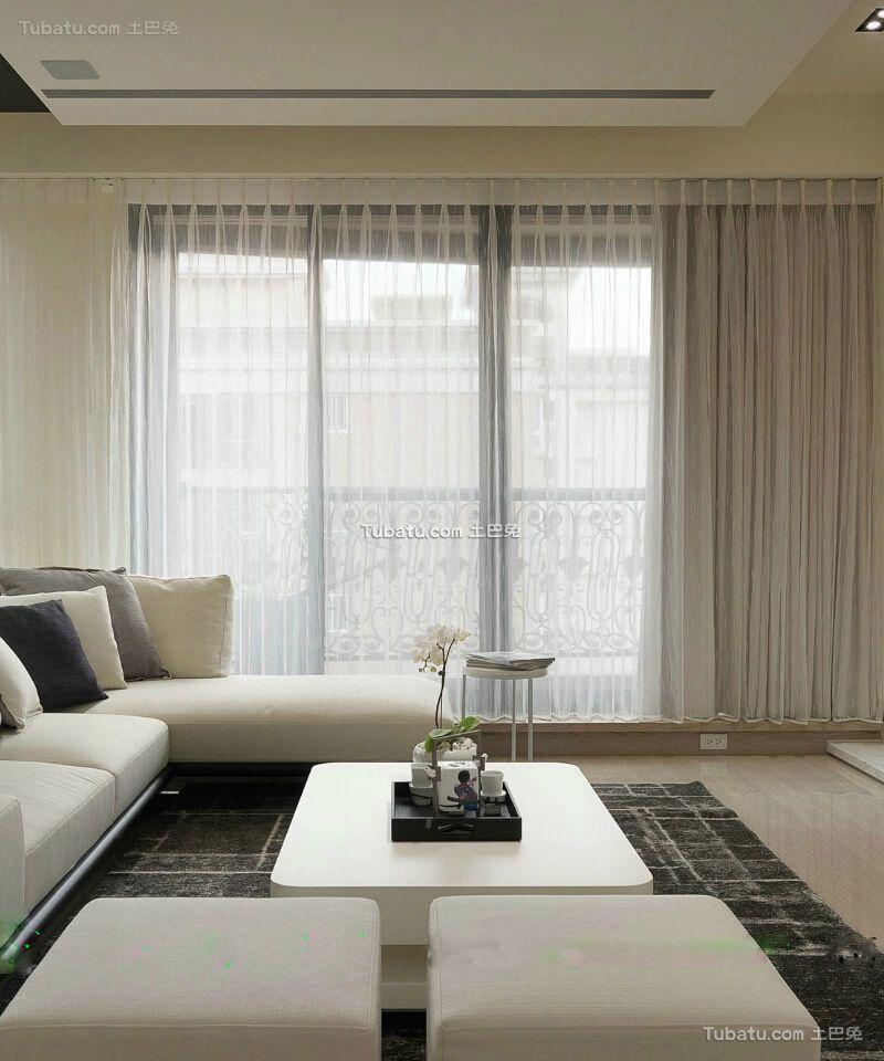104平现代简约三居室内装修设计效果图片