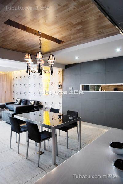 现代精致家装餐厅设计装修效果图
