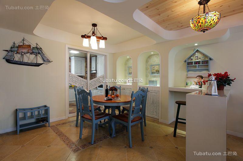 地中海风格复式家居餐厅效果图片