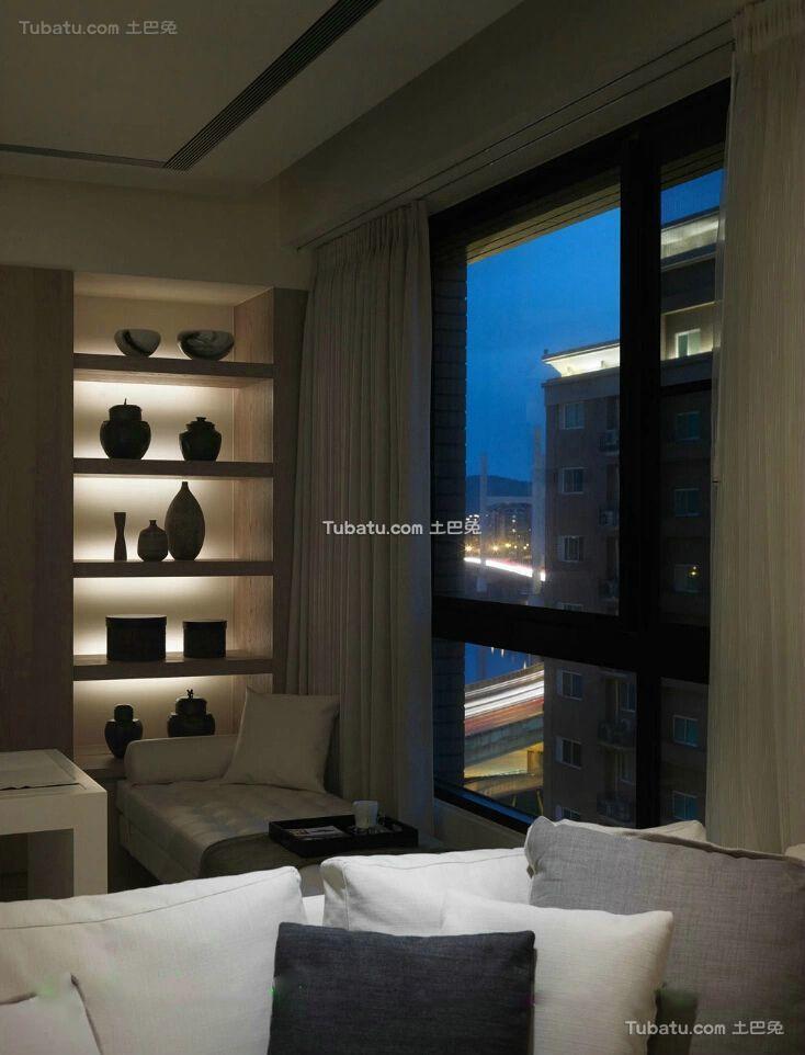 现代简约室内博古架设计效果图片