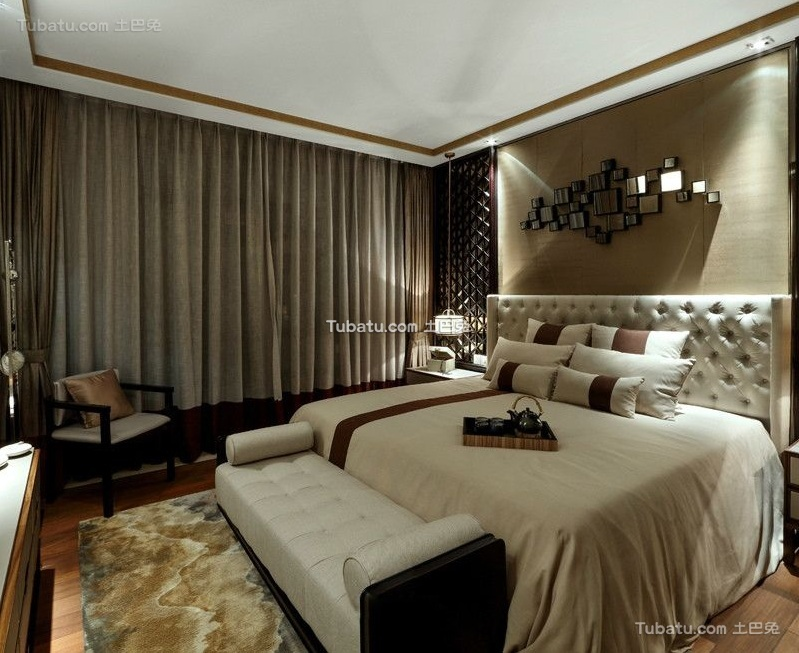 欧式风格现代卧室设计装修效果图