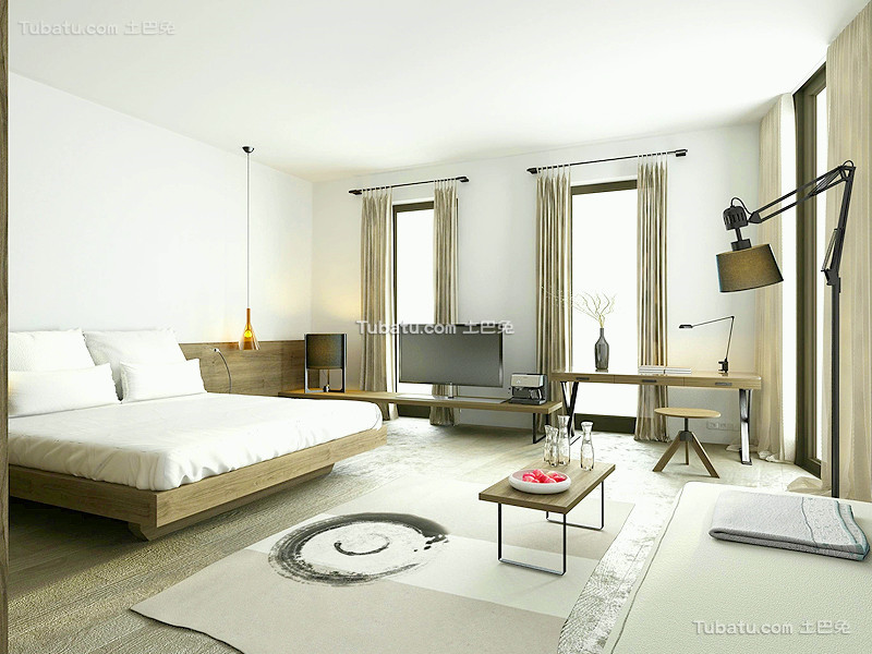 现代简约家居装修卧室