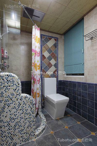地中海风格室内家居卫生间设计效果图片