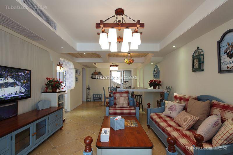 地中海风格复式家居设计效果图片