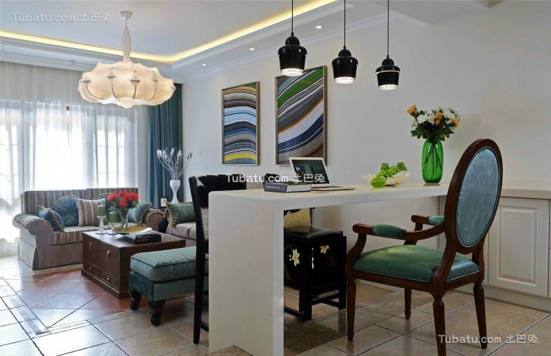 新古典风格设计现代吧台装修效果图片