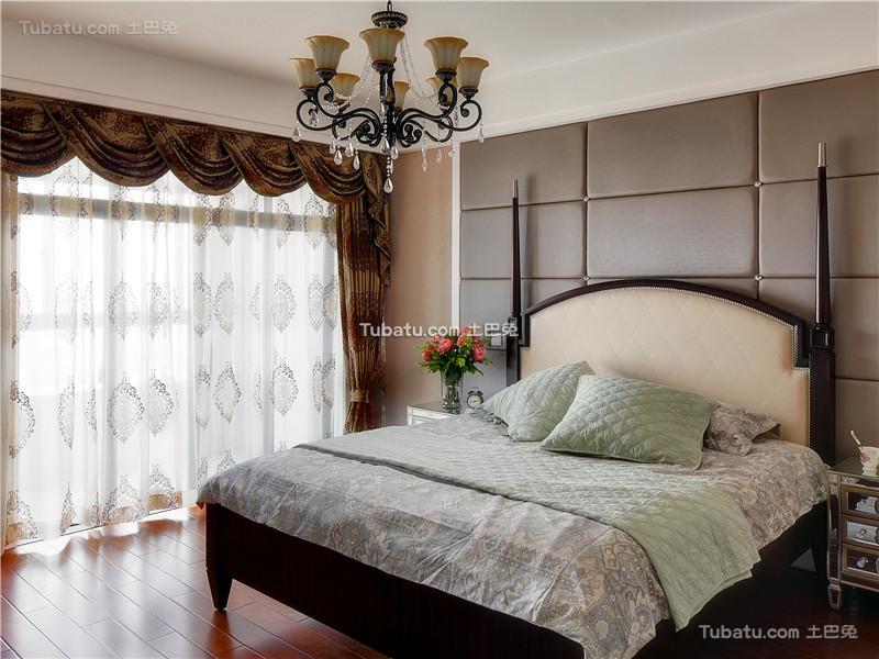 现代美式田园卧室装潢