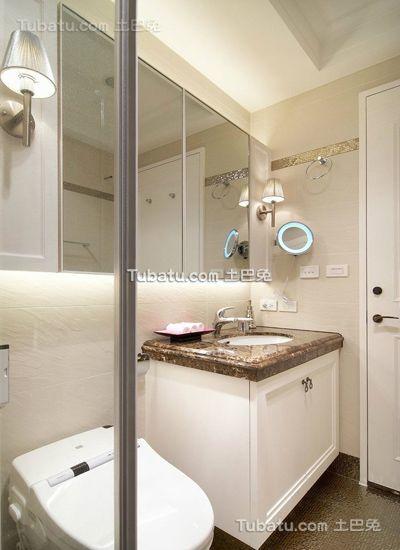 时尚简欧设计卫生间效果图欣赏