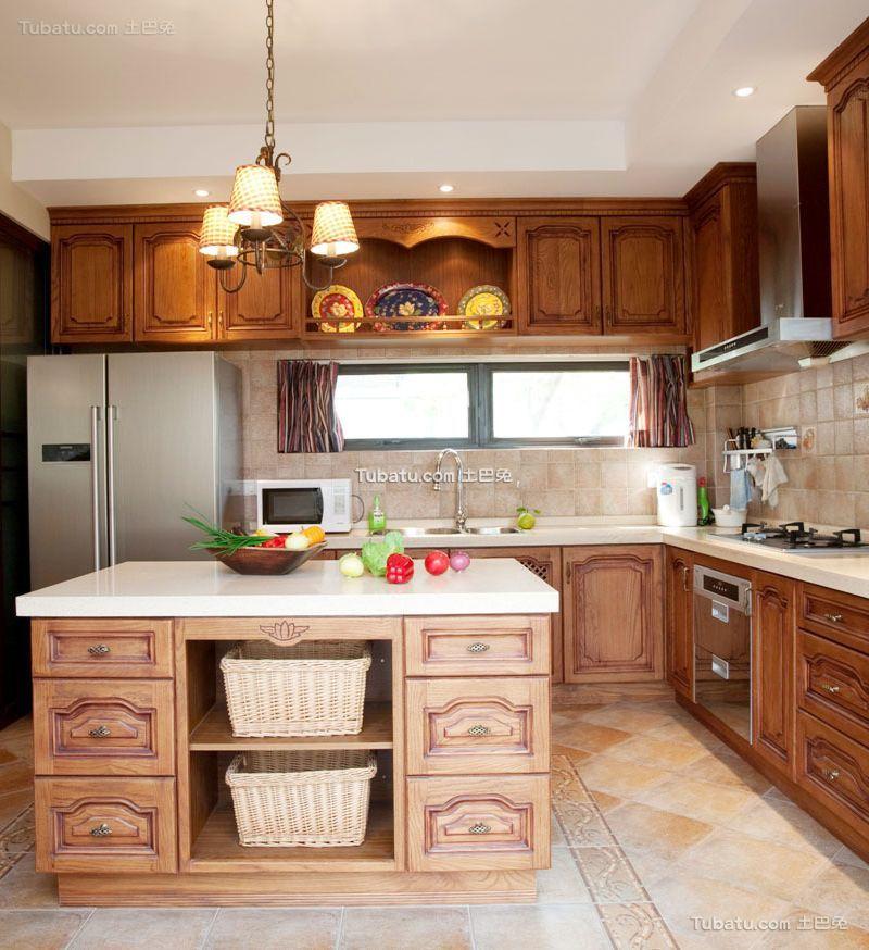 欧式古典复式家装厨房效果图片