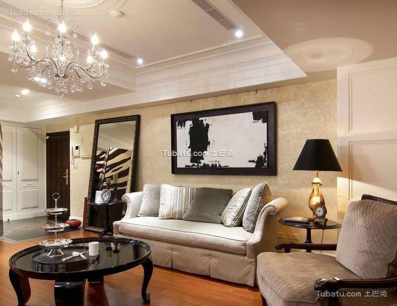 时尚简欧设计四居室装修效果图欣赏