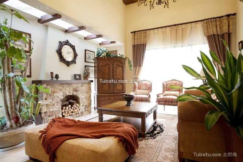 欧式古典复式客厅设计效果图片