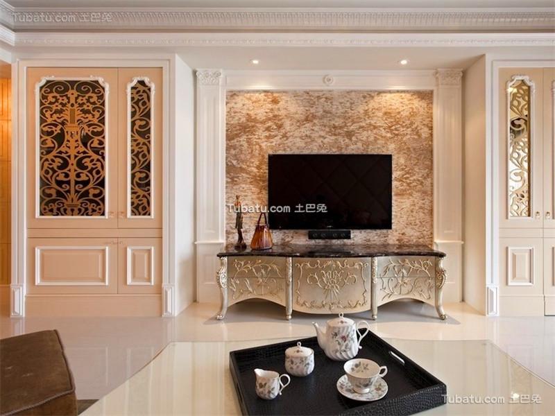 复古低奢欧式背景墙设计