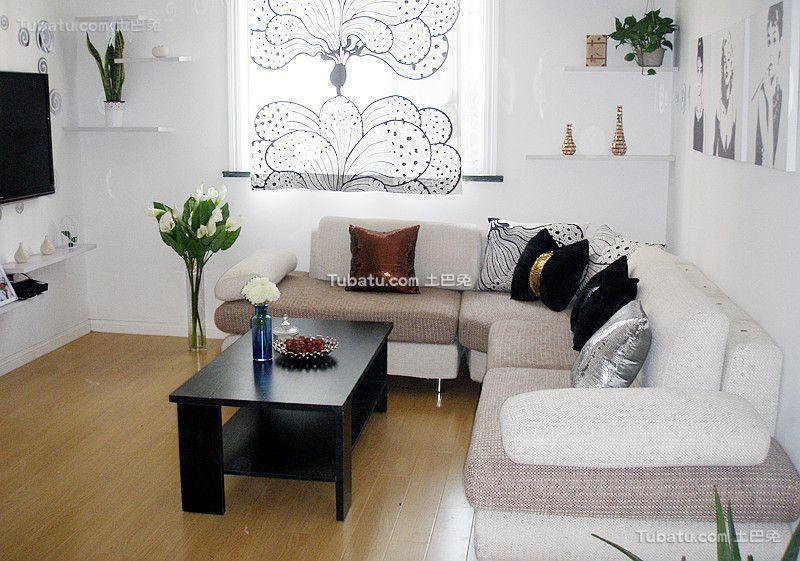 北欧风格设计两居室效果图片