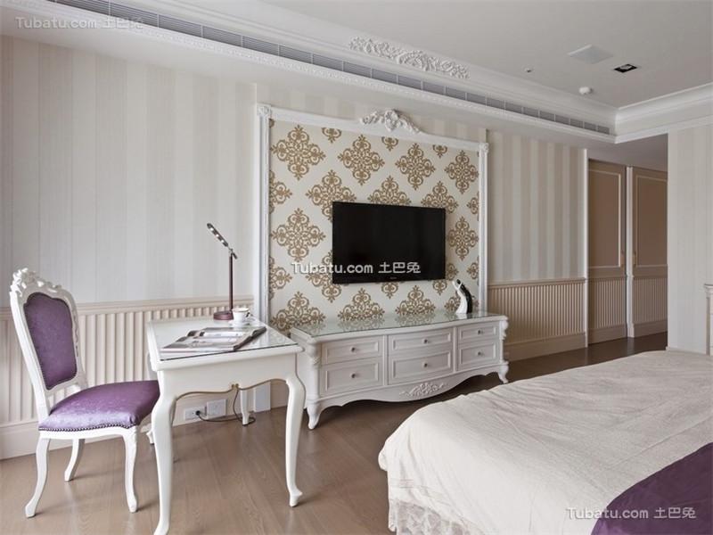 复古低奢欧式卧室书房