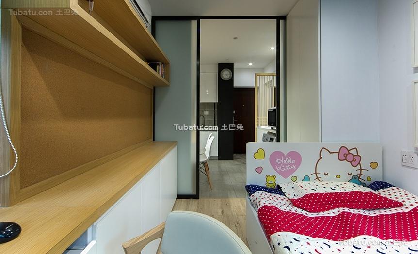 简约现代公寓室内儿童房 装修图片