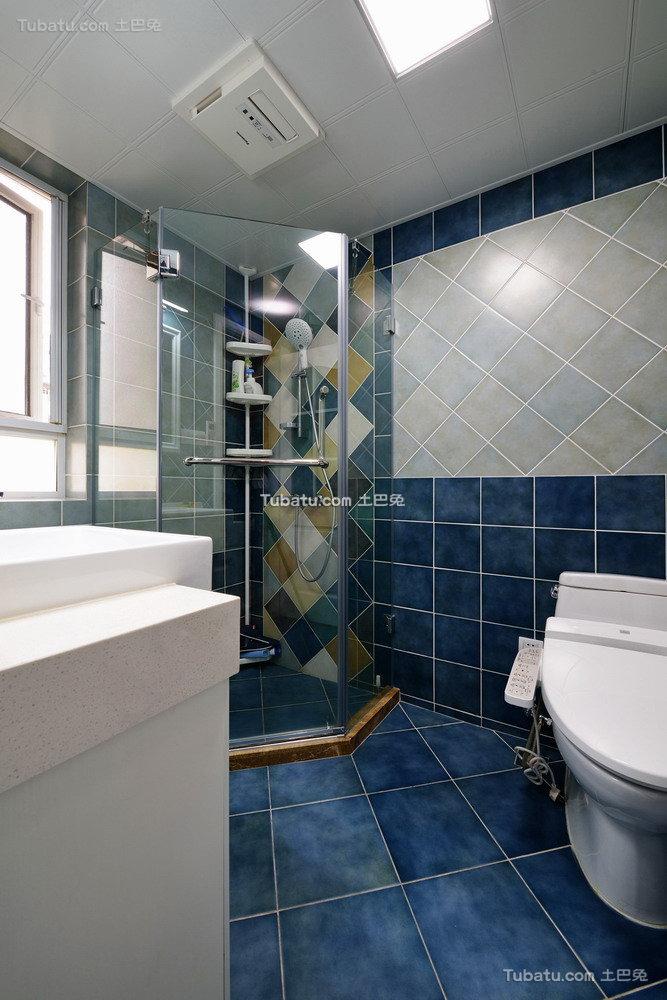 蓝色地中海卫生间装饰