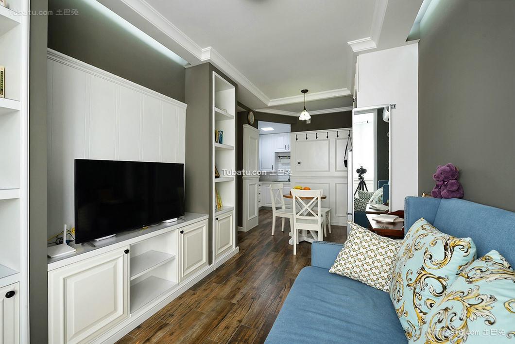 美式设计一居室装修效果图