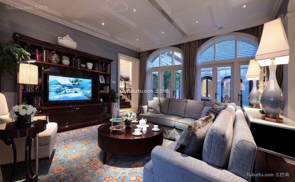 豪华复古美式客厅装饰大全