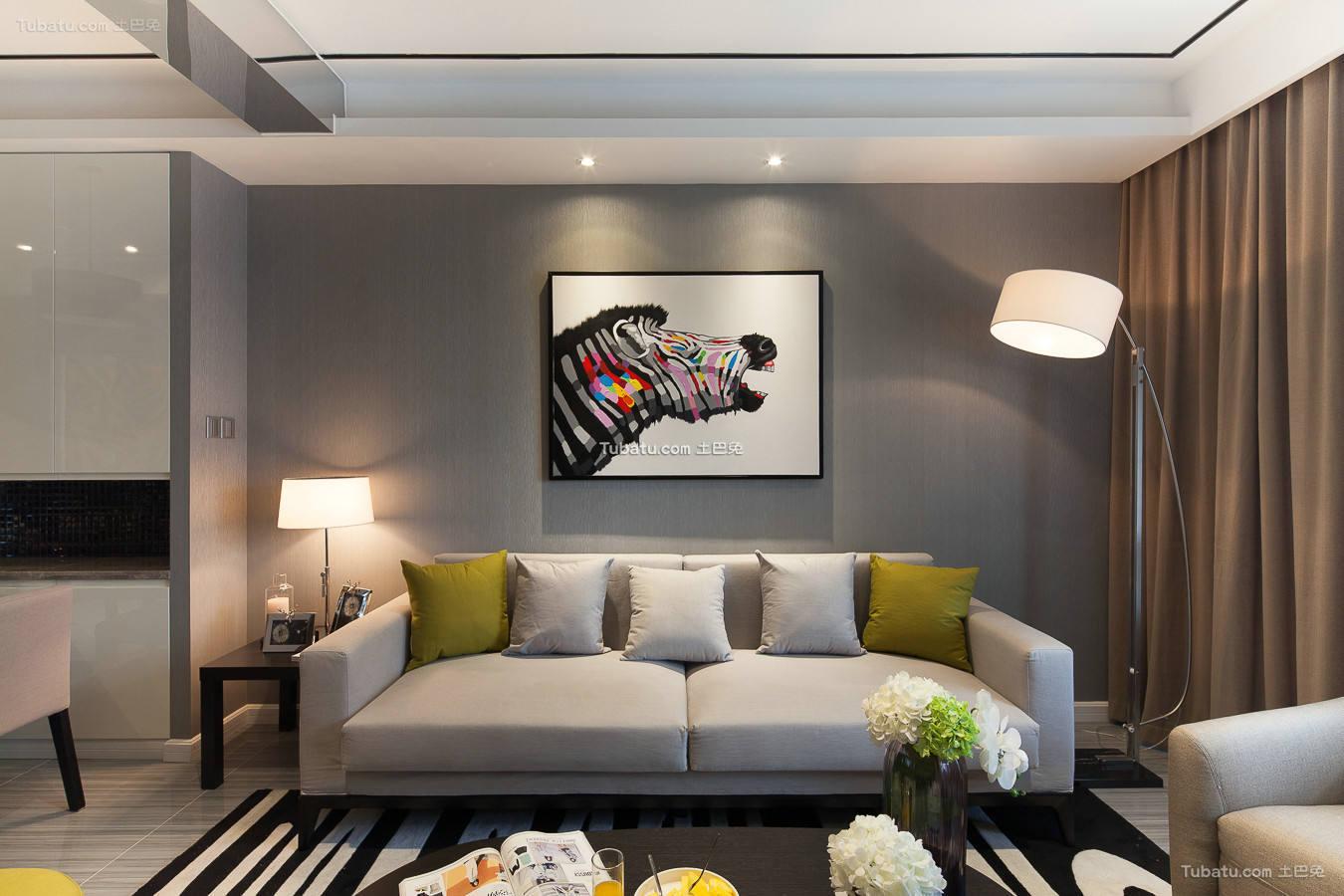时尚现代装修两居室设计效果图片