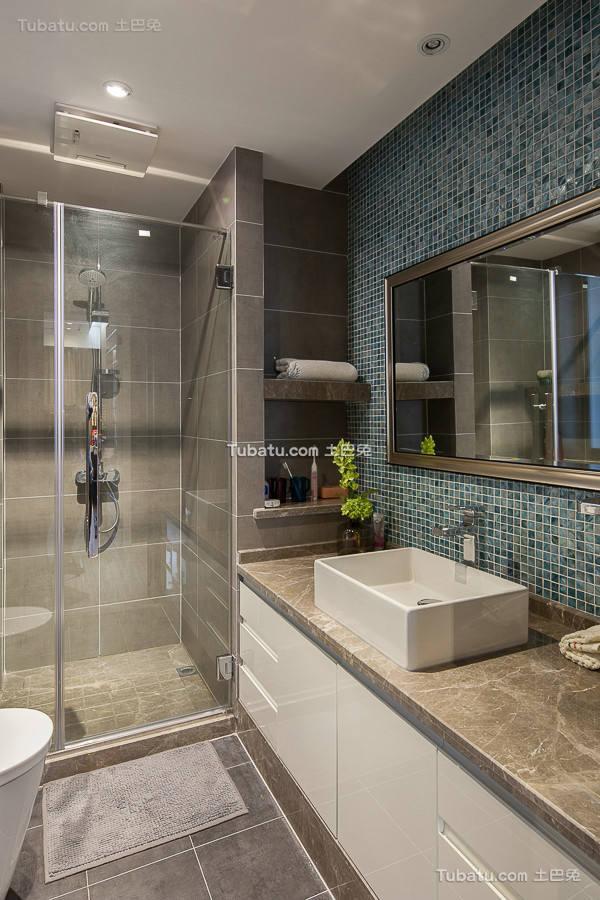 时尚现代装修卫生间效果图片