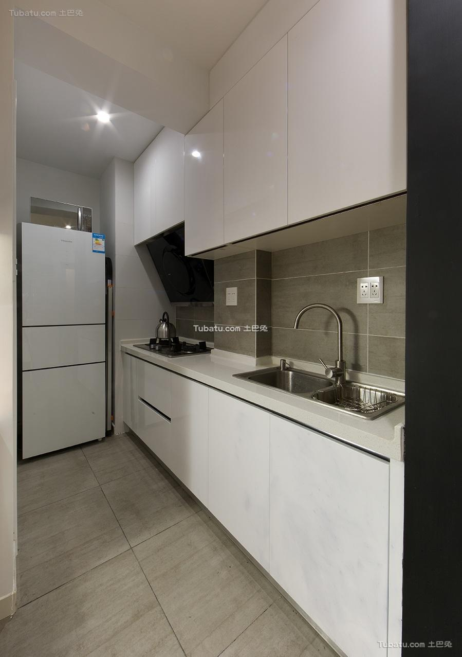 简约现代公寓室内厨房图片