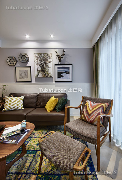 创意混搭美式客厅布置装饰