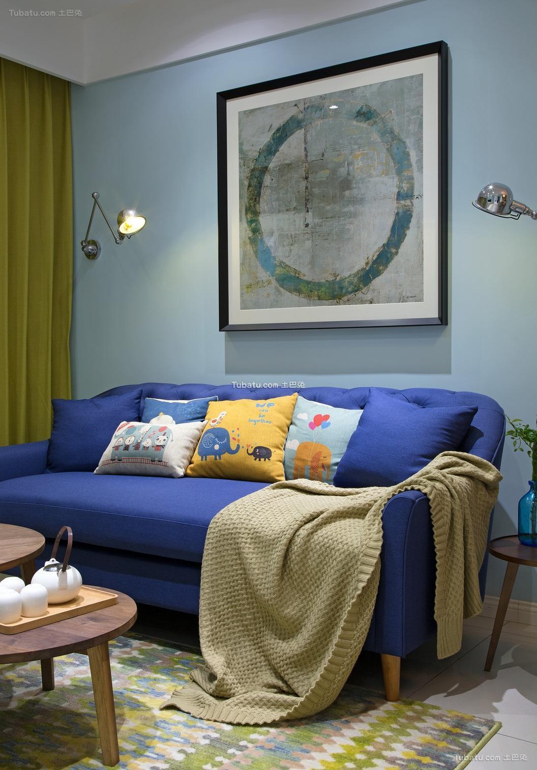 现代时尚设计两居室装修图片
