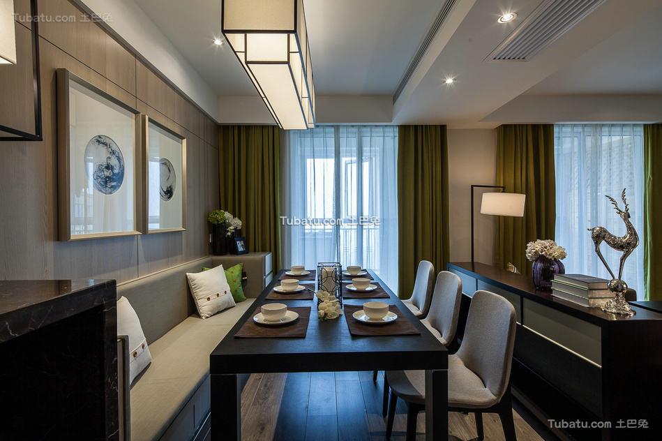 现代风格设计复式家居餐厅效果图