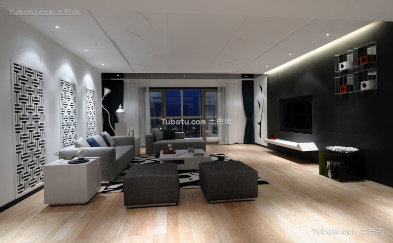 摩登现代简中式客厅