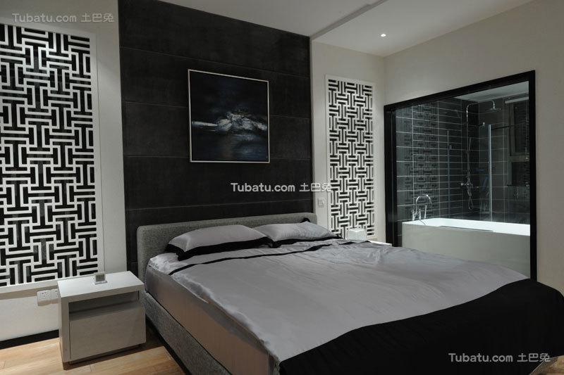 摩登现代简中式卧室