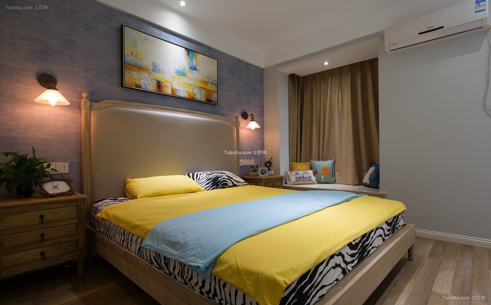 现代时尚设计卧室装修图片