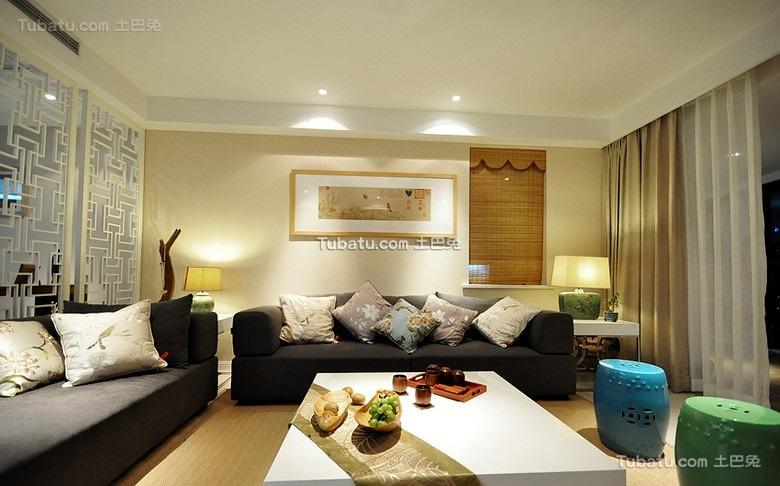 简中式客厅布置装饰