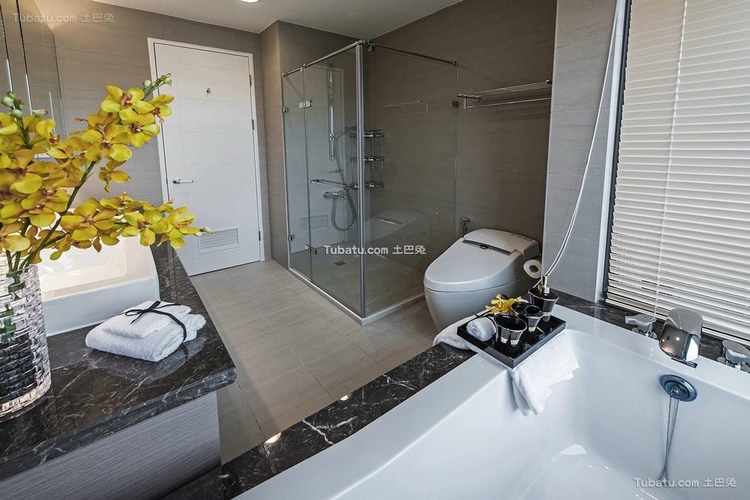 现代简约设计别墅家居卫生间效果图片