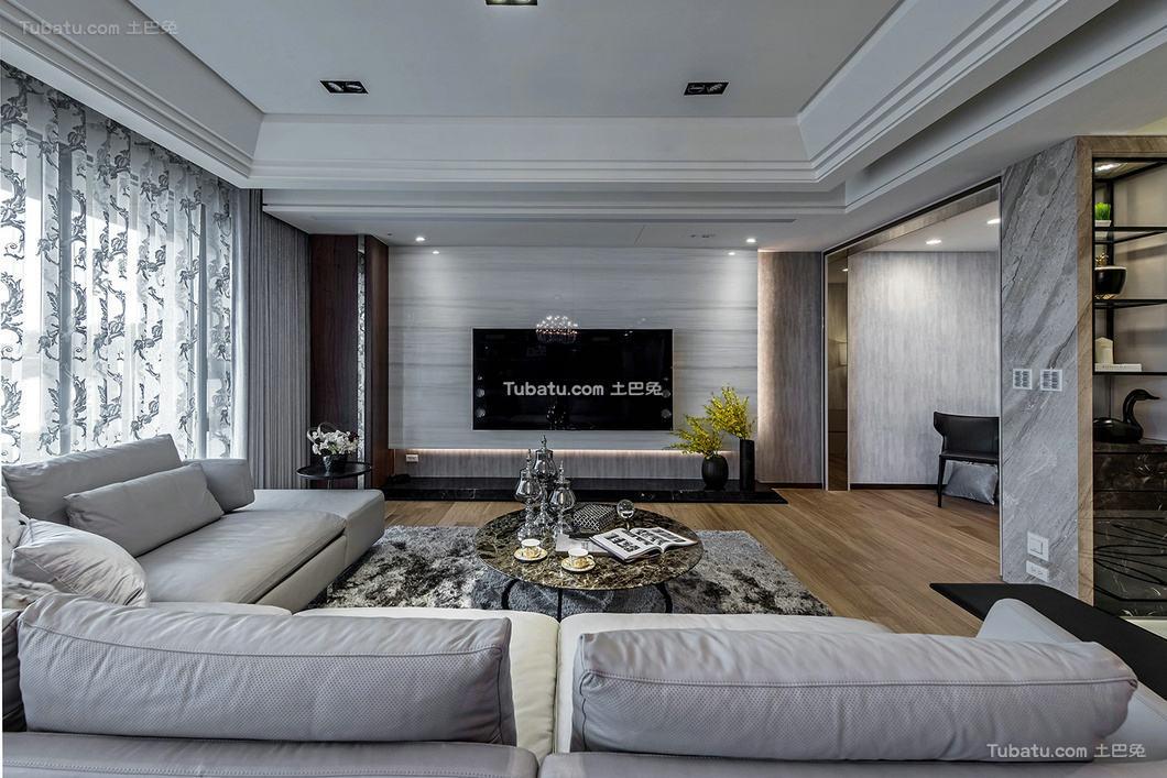 现代简约设计别墅装修效果图片