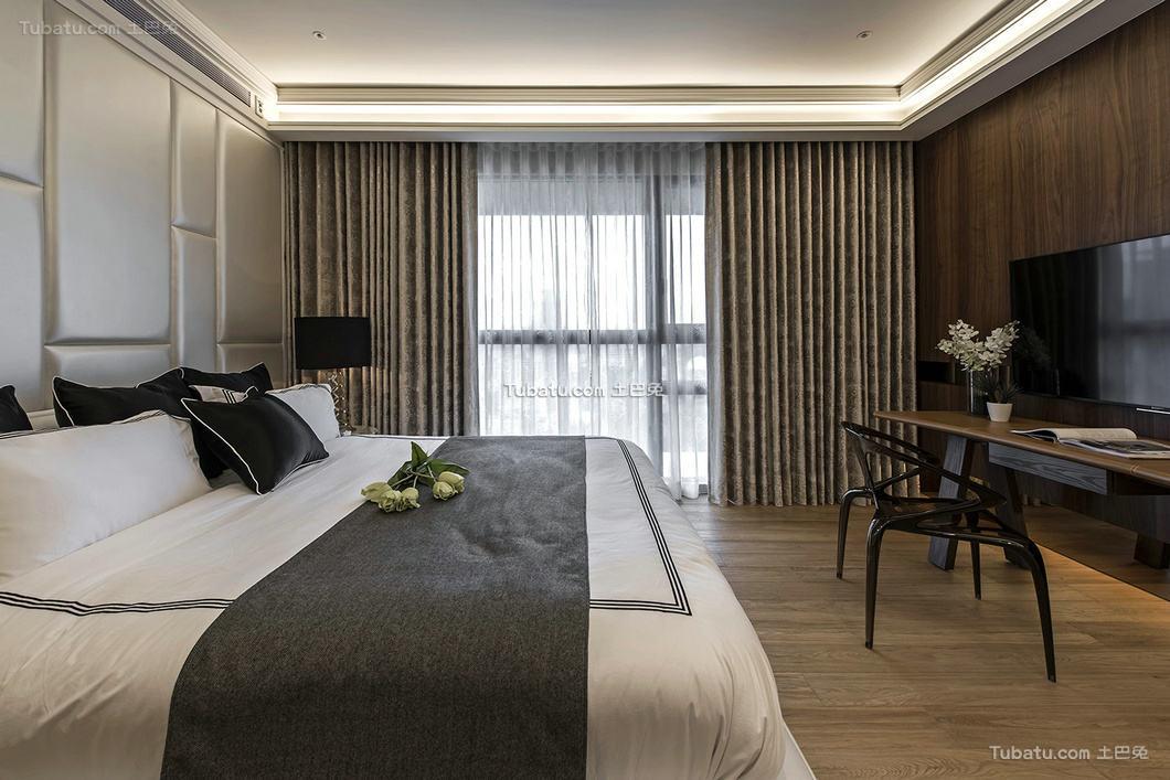 现代简约设计别墅卧室效果图片