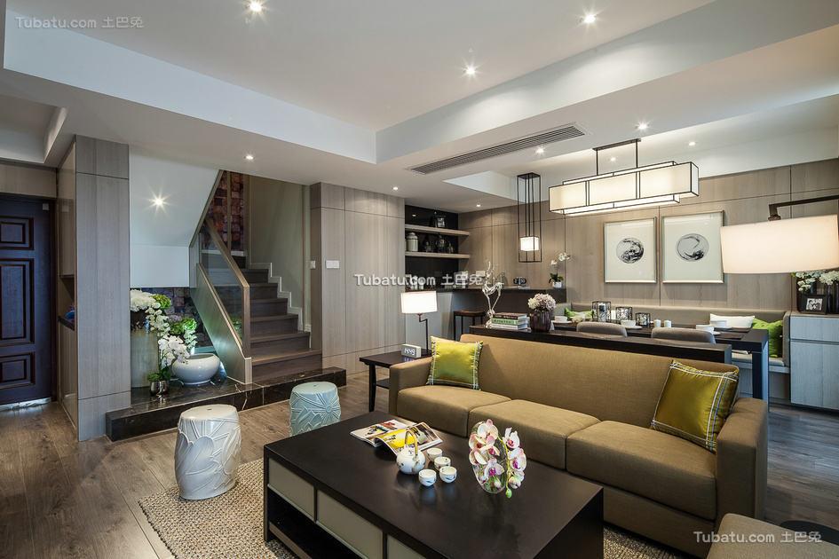 现代风格设计复式家居装修效果图
