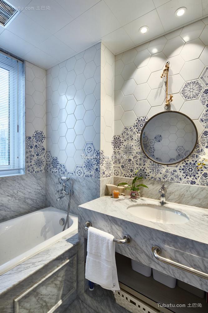 美式现代卫生间装修设计效果图片
