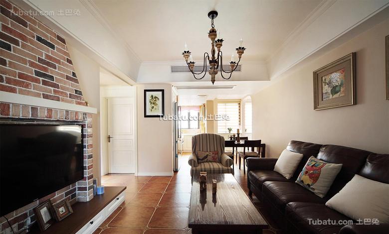 美式家居公寓客厅室内装修图片