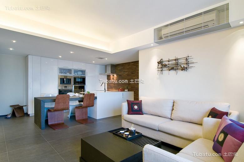 现代时尚中式二居设计
