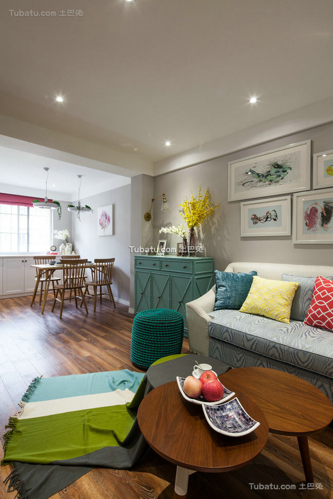 简约温馨两居室家装设计效果图片