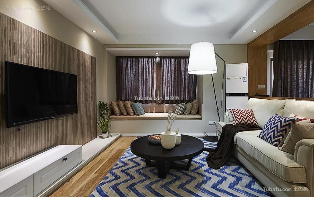 美式风格两居室设计装修效果图片