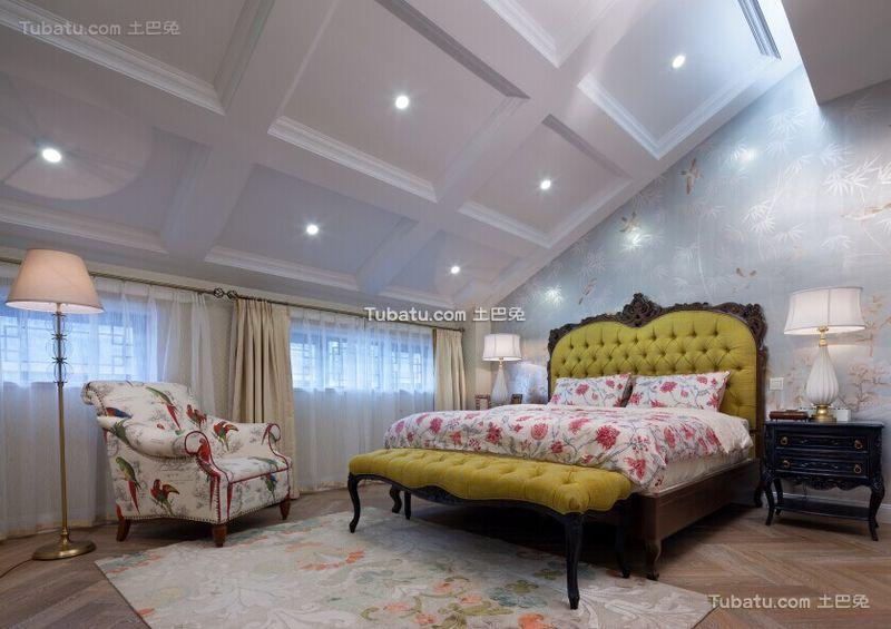 欧式时尚设计别墅卧室装修图片