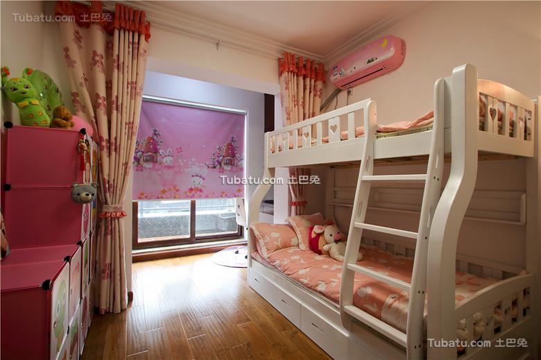 现代装修粉色儿童房设计